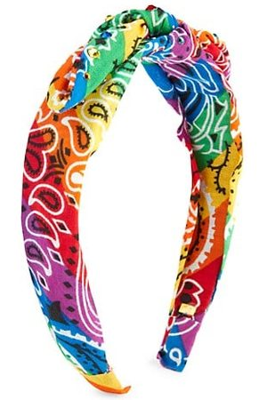 Bari Lynn Girls Headbands - Multicolor Bandana Crystal Knotted Headband