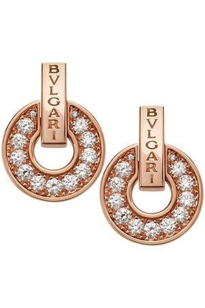 Bvlgari Earrings - Essential 18K Rose & Diamond Openwork Earrings
