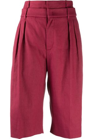 Brunello Cucinelli High-rise wide-leg bermuda shorts