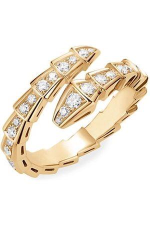 Bvlgari Serpenti Viper 18K Yellow & Diamond Wrap Ring