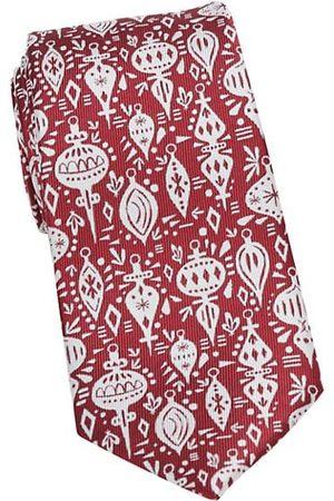 Cufflinks, Inc. Christmas Ornament-Print Silk Tie