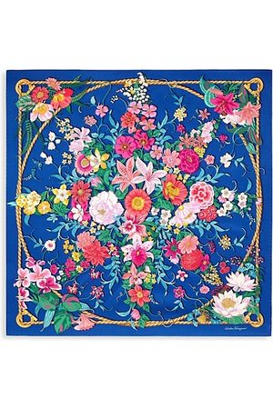 Salvatore Ferragamo Giada Split Floral Silk Scarf