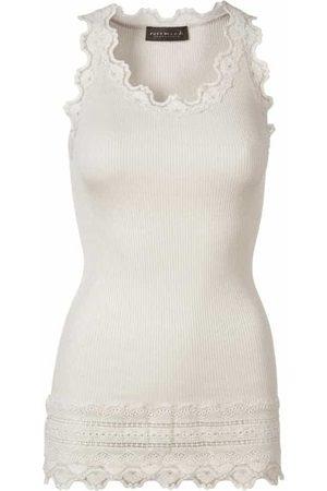 Rosemunde Women Camisoles - Benita Wide Lace Vest - Soft Powder