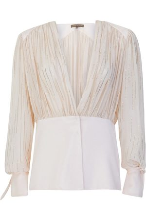 SIMONA CORSELLINI P19CMBL009 Embellished Blouse in Cream