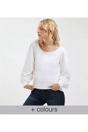 Yunion T Women Long Sleeve - LTD Long Sleeve Gathered Cuff T-shirt