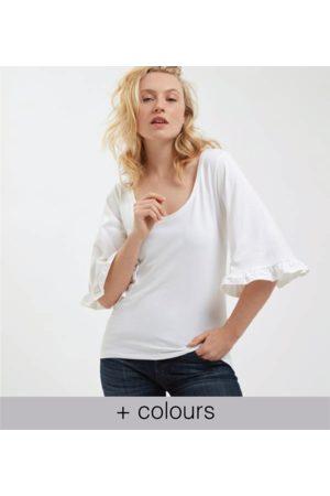 Yunion T LTD 3/4 Flared Sleeve Frill T-Shirt