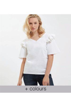 Yunion T Women T-shirts - LTD Frill Shoulder T-shirt