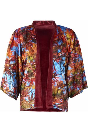 From My Mother's Garden REVERSIBLE VELVET KIMONO - BLUE SKY ACER