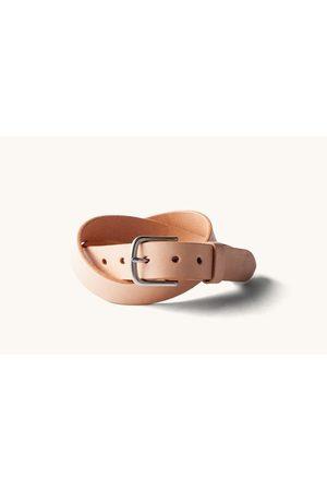 TANNER Men Belts - Classic Belt - Natural/Brushed Steel
