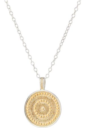 Anna Beck Large Beaded Reversible Disc Necklace - Gold &