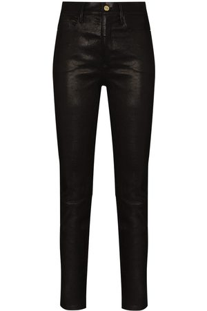 Frame Women Leather Pants - Le Sylvie skinny leather trousers