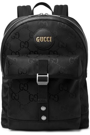 Gucci Men Rucksacks - Leather-Trimmed Monogrammed ECONYL Backpack