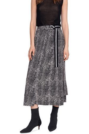 Riani Animal Print Maxi Skirt