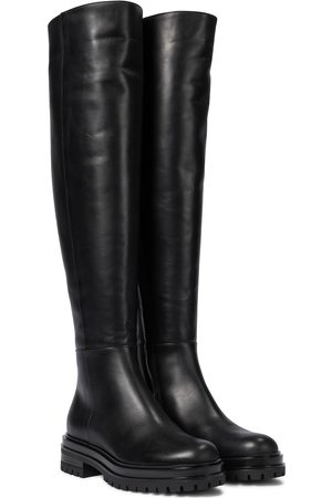 Gianvito Rossi Quinn leather over-the-knee boots
