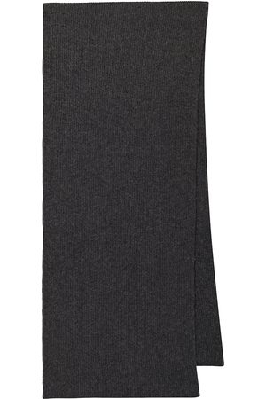 Ganni Ribbed recycled-wool scarf