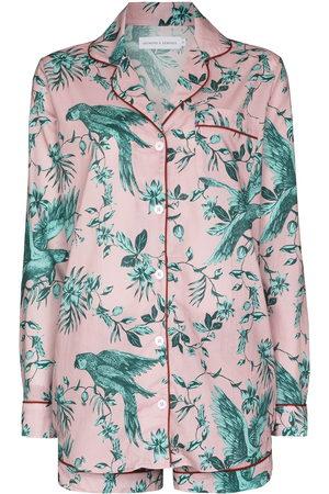 Desmond & Dempsey Women Pyjamas - Bromley parrot-print cotton pyjama set