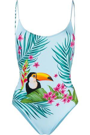 MC2 SAINT BARTH Cecille tropical print swimsuit