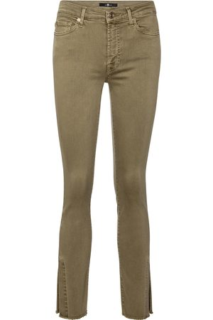 7 for all Mankind Ronnie Slim Illusion mid-rise skinny jeans