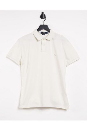 Polo Ralph Lauren Slim fit player logo pique polo in antique