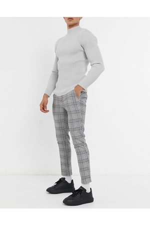 ASOS Skinny trousers in check with elasticated waist