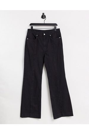 Weekday Orian co-ord organic cotton flared pinstripe jeans in