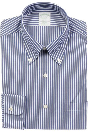 Brooks Brothers MEN'S 5209RIGABLUE COTTON SHIRT