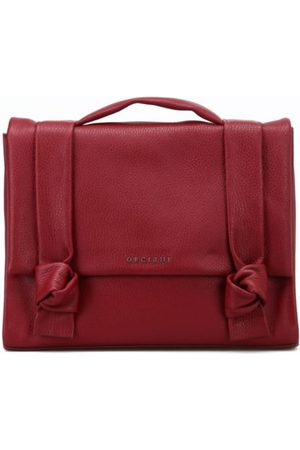 Orciani WOMEN'S B02021MICRONBORDEAUX LEATHER BRIEFCASE