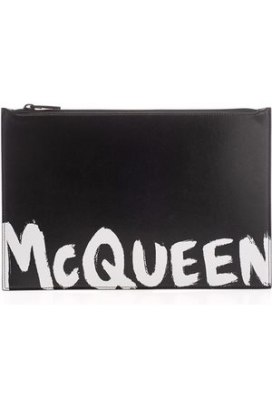 Alexander McQueen Men Wallets - MEN'S 5604721NT0B1070 LEATHER POUCH