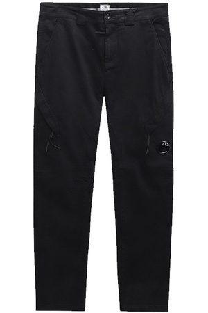 CP Company C.P. Company Garment Dyed Lens Pocket Cargo Pants Black