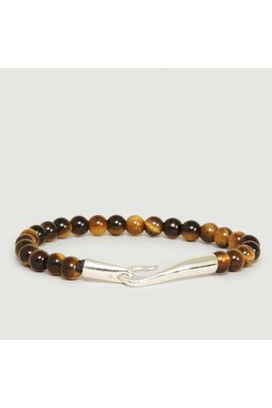 Orner Men Bracelets - Tiger Eye Pearls Bracelet Amber