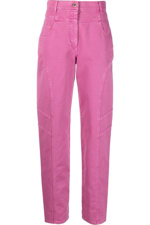 Alberta Ferretti High-rise straight-leg trousers
