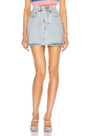 Miu Miu Denim Mini Skirt in Denim Light