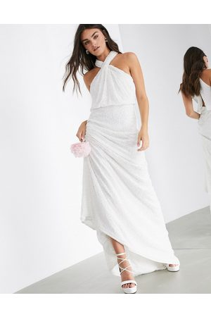 ASOS Carmelo sequin halter wedding dress