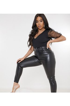 Missguided Faux leather trouser in