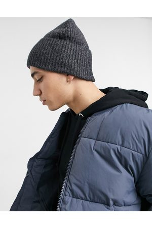 ASOS Oversized fisherman beanie in charcoal