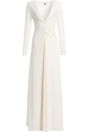 Halston Heritage Women Party Dresses - V-Neck Ruched Jersey Gown
