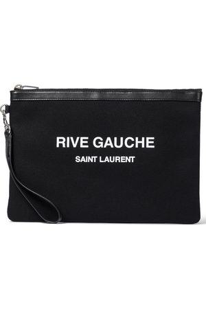 Saint Laurent Rive Gauche canvas pouch