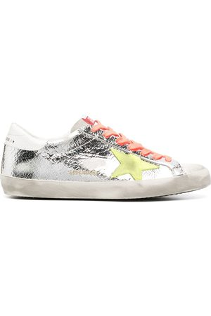 Golden Goose Logo-patch distressed-effect sneakers