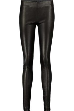 The Row Moto leather leggings