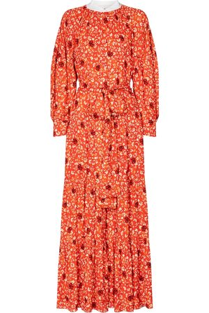 Chloé Floral crêpe midi dress