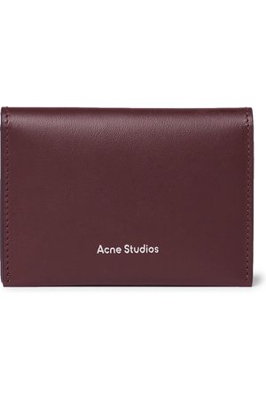 Acne Studios Men Wallets - Logo-Print Leather Billfold Wallet