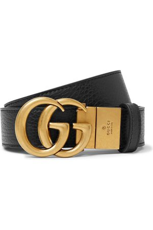Gucci 3.5cm Logo-Detailed Full-Grain Leather Belt