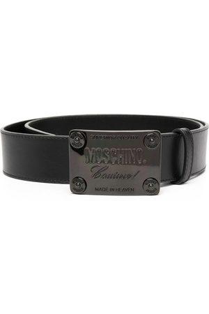 Moschino Logo plaque buckled belt