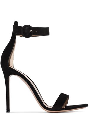 Gianvito Rossi Women Sandals - 105mm strappy suede sandals