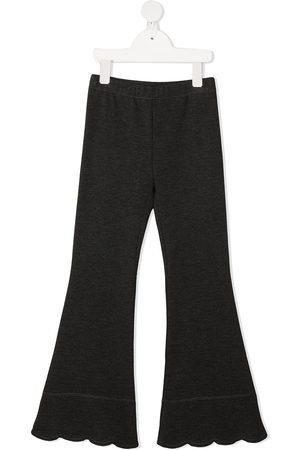 LA STUPENDERIA Scallop-hem flared trousers