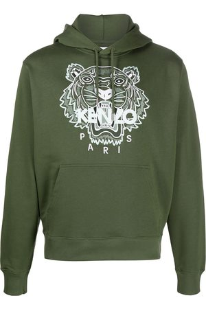 Kenzo Tiger motif embroidered hoodie