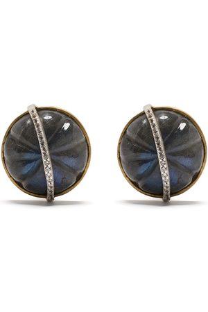 AKANSHA SETHI 14kt yellow diamond Cloud stud earrings