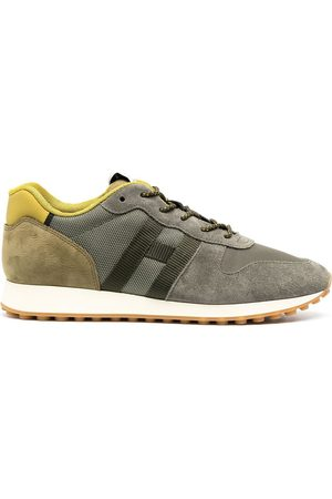Hogan Contrast panel lace-up sneakers
