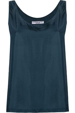 KATHARINE HAMNETT LONDON Sleeveless silk blouse