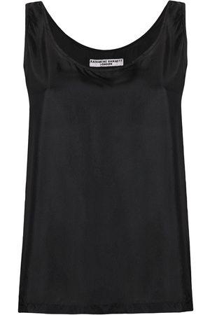 KATHARINE HAMNETT LONDON Sleeveless silk top